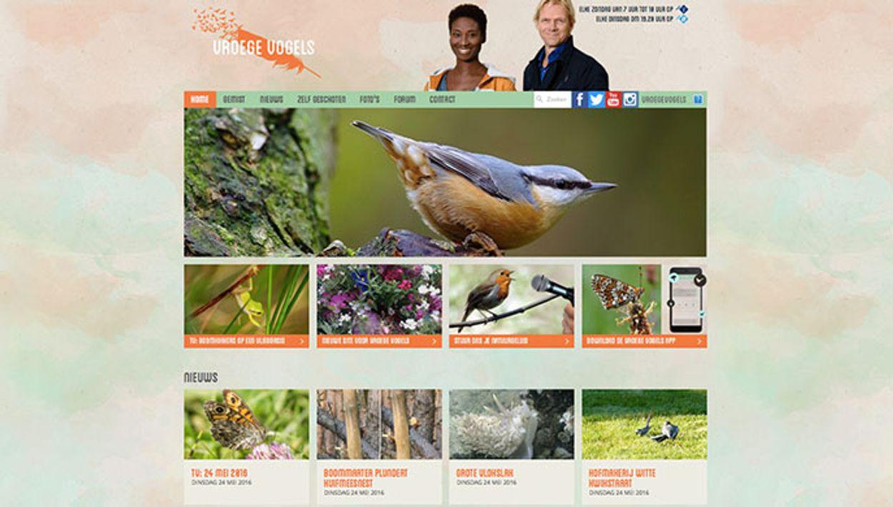 Afbeelding van Gloednieuwe website voor Vroege Vogels!