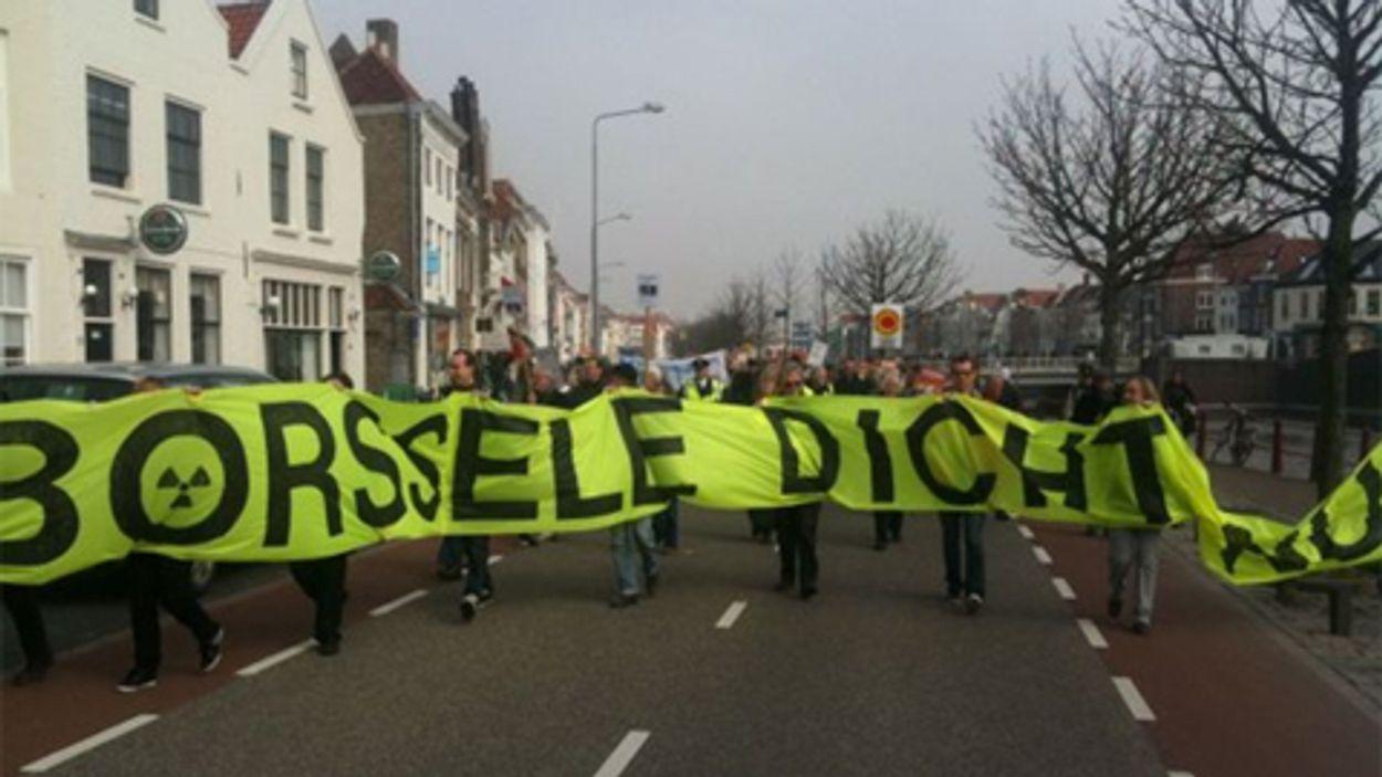 Afbeelding van Actievoerders willen sluiting kerncentrale