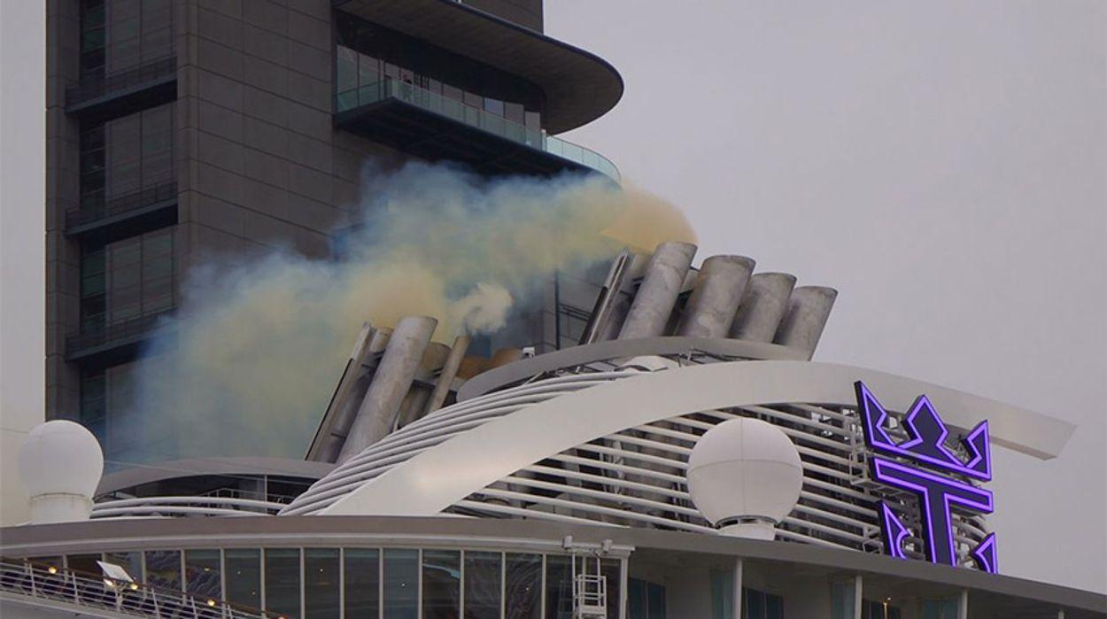 Uitstoot cruiseschip